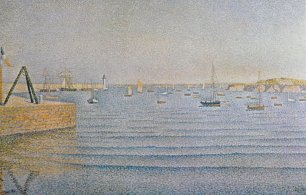 Paul Signac Painting of Portrieux Wandbild
