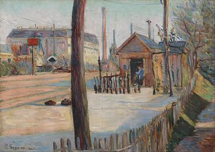 Paul Signac Railway junction near Bois Colombes Wandbild