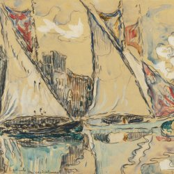 Paul-Signac-Saint-Tropez-Sailing-Boats-on-the-Shallow