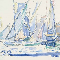 Paul-Signac-Saint-Tropez-Tartans-in-the-Port
