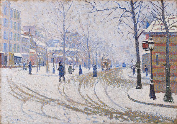 Paul Signac Snow, Boulevard de Clichy, Paris