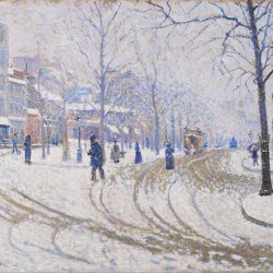 Paul-Signac-Snow-Boulevard-de-Clichy-Paris