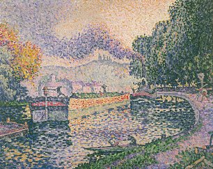 Paul Signac The Tugboat Canal in Samois