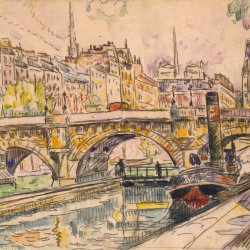 Paul-Signac-Tugboat-at-the-Pont-Neuf-Paris