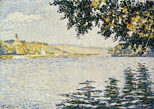 Paul Signac View of the Seine at Herblay