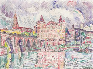 Paul Signac the look at montauban in rain Wandbild