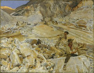 John Singer Sargent Bringing Down Marble from the Quarries to Carrara Wandbild