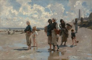 John Singer Sargent Fishing for Oysters at Cancale Wandbild