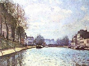 Alfred Sisley Ansicht des Kanals Saint Martin in Paris Wandbilder