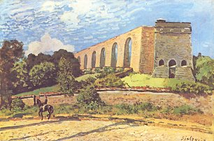 Alfred Sisley Aquaedukt in Port Marly Wandbild