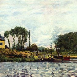 Alfred-Sisley-Boote-bei-Bougival