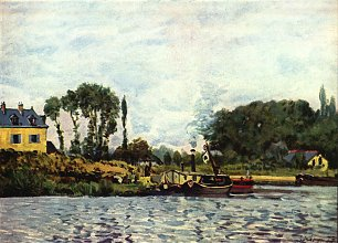 Alfred Sisley Boote bei Bougival