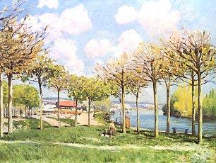 Alfred Sisley Die Seine bei Bougival 2 Wandbilder