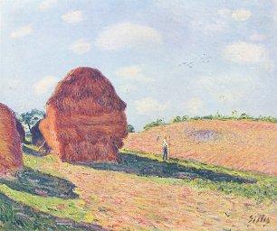 Alfred Sisley Die Strohmieten Wandbilder
