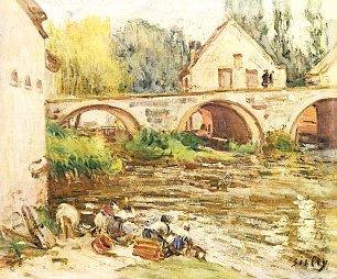 Alfred Sisley Die Wascherinnen von Moret Wandbilder