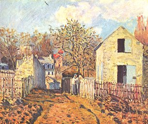 Alfred Sisley Dorf von Voisins Wandbilder