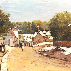 Alfred-Sisley-Erster-Schnee-in-Louveciennes