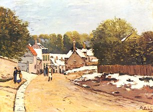 Alfred Sisley Erster Schnee in Louveciennes