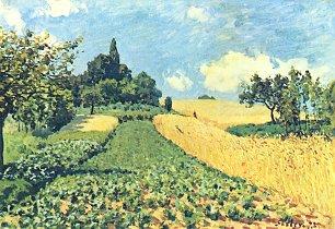 Alfred Sisley Getreidefelder auf den Huegeln von Argenteuil Wandbilder