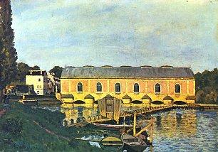Alfred Sisley Maschinenhaus der Pumpe in Marly Wandbilder