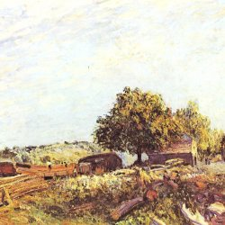 Alfred-Sisley-Saint-Mammes-am-Morgen
