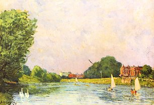 Alfred Sisley Themse bei Hampton Court