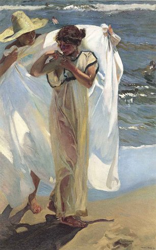Joaquin Sorolla After the Bath Wandbild