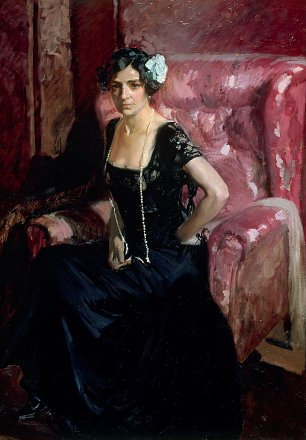 Joaquin Sorolla Clotilde in Evening Dress Wandbild
