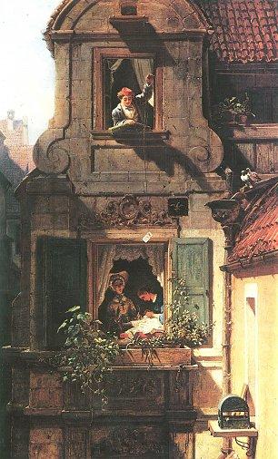 Carl Spitzweg Der abgefangene Liebesbrief Wandbilder