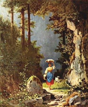 Carl Spitzweg Maedchen mit Ziege Wandbilder