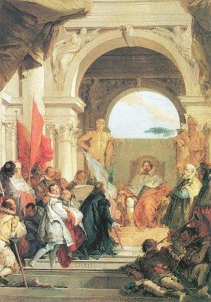Tiepolo Die Belehnung Bischof Herolds mit dem Herzogtum Franken durch Kaiser Barabrossa Wandbilder