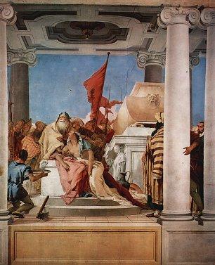 Tiepolo Villa Valmarana Vicenza Die Opferung der Iphigenie Wandbilder