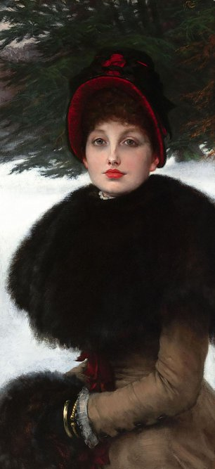 James Tissot A Winters Walk Wandbild