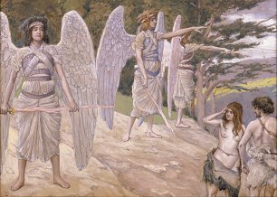 James Tissot Adam and Eve Driven From Paradise Wandbild