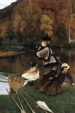 James Tissot Autumn on the Thames Wandbild