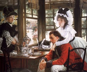 James Tissot Bad News Wandbild