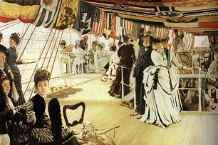 James Tissot Ball on Shipboard Wandbild