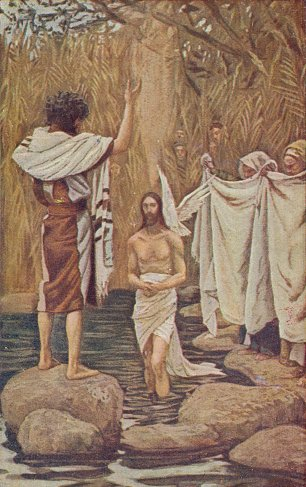 James Tissot Baptism of Jesus Wandbild