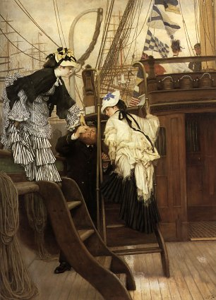 James Tissot Boarding the Yacht Wandbild