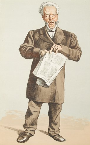 James Tissot Caricature of Alderman Andrew Lusk MP Wandbild