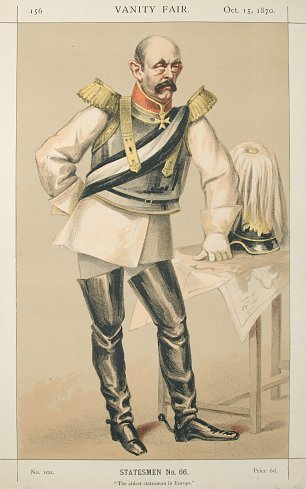 James Tissot Caricature of Count von Bismarck Schoenausen Wandbild