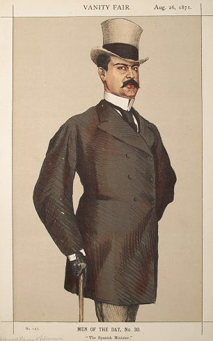 James Tissot Caricature of Don Manuel Rances y Villanueva Wandbild