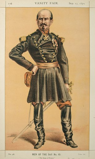 James Tissot Caricature of Gen Louis Jules Trochu Wandbild
