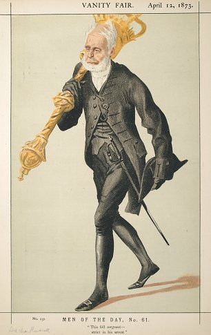James Tissot Caricature of Lt Col Lord Charles James Fox Russell Wandbild