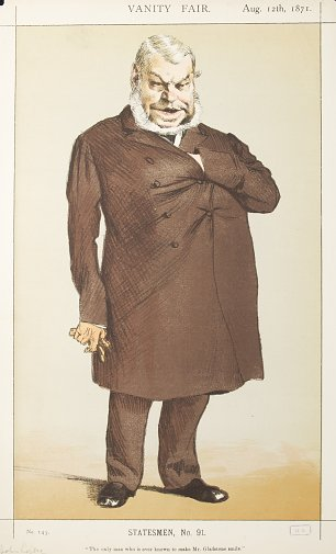 James Tissot Caricature of Mr John Locke MP Wandbild