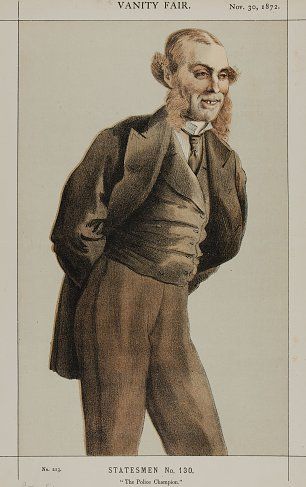 James Tissot Caricature of Mr Roger Eykyn Liberal MP for Windsor Wandbild