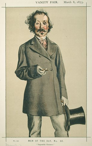 James Tissot Caricature of Mr Thomas Mayne Reid Wandbild