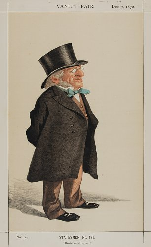 James Tissot Caricature of Sir Francis Goldsmid M P Wandbild