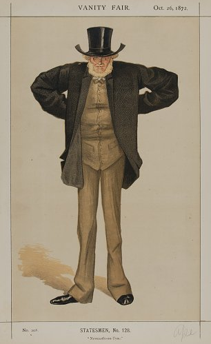 James Tissot Caricature of Sir Joseph Cowen M P Wandbild