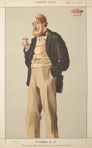 James Tissot Caricature of The Duke of Rutland Wandbild